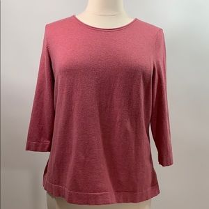 Talbots pink Cotton Blend sweater 1X